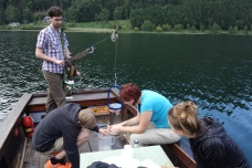 Field work on Lake Lunz